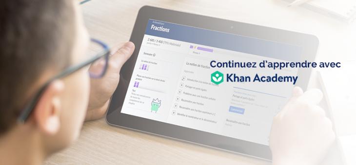 Planning Khan Academy pour les fermetures d'écoles